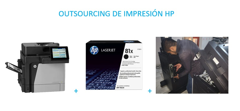Outsourcing Impresion hp